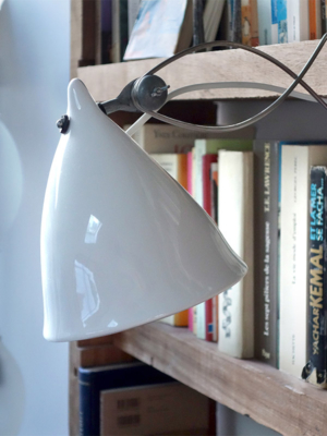 Glossy Porcelain clip-on lamp