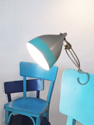 clip-on lamp-turquoise