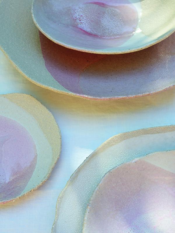 Ceramic Stoneware Plates Wabi Pink